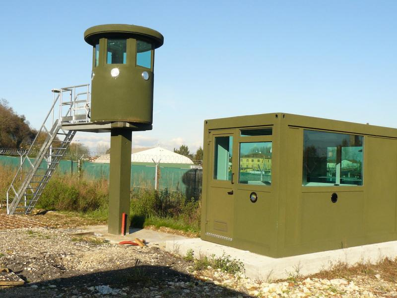 GUARD BOOTH MOD. AB CO ISO AND GUARD TOWER MOD. 1 CAR 50 P