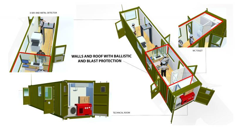 CONTAINER GUARD BOOTHS - SCHEDULE