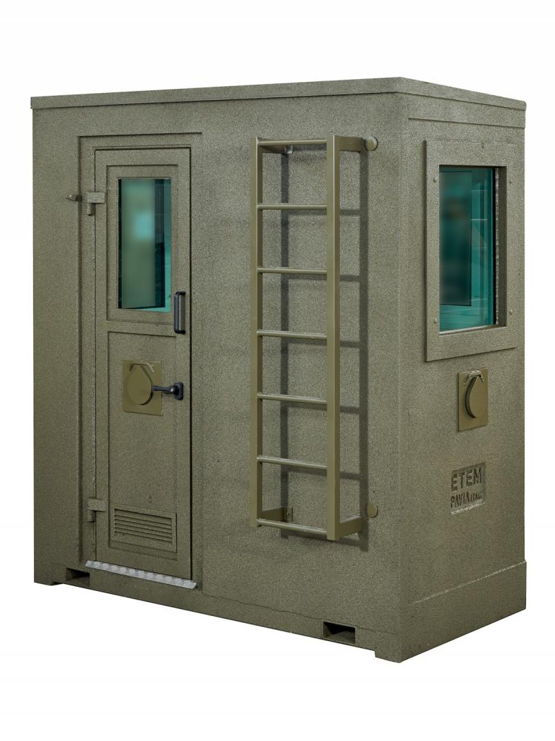GUARD BOOTH MOD CAF - BACK VIEW