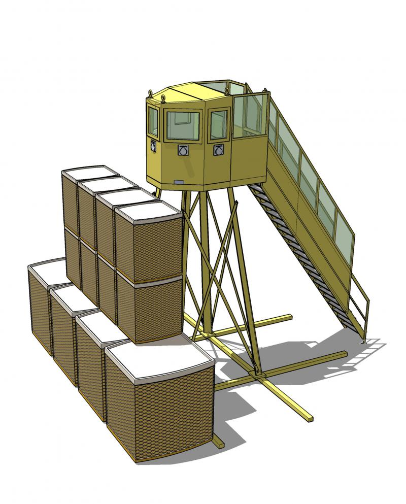 Ballistic guard towers in reinforced concrete ?CAF? series
