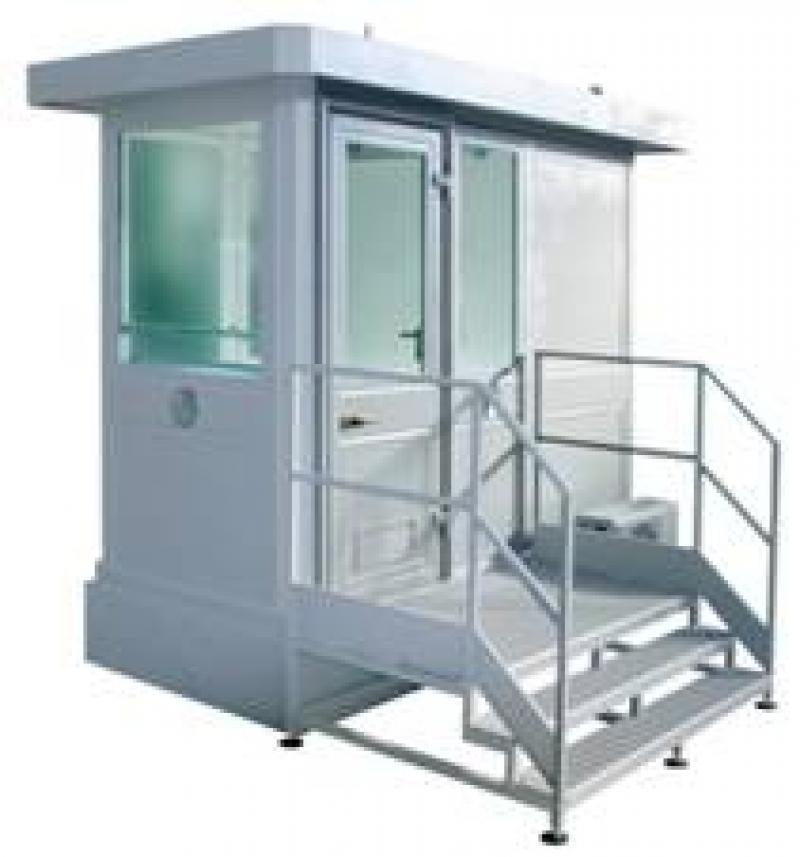 GUARD BOOTH MOD AB 100 FS - WITH BASEMENT, STAIRS AND HANDRAIL - OPT