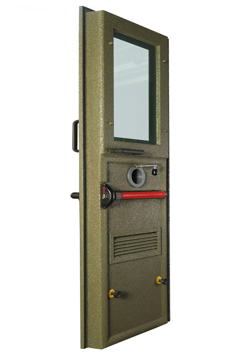 BLAST & BALLISTIC DOOR IN STEEL AND GLASS