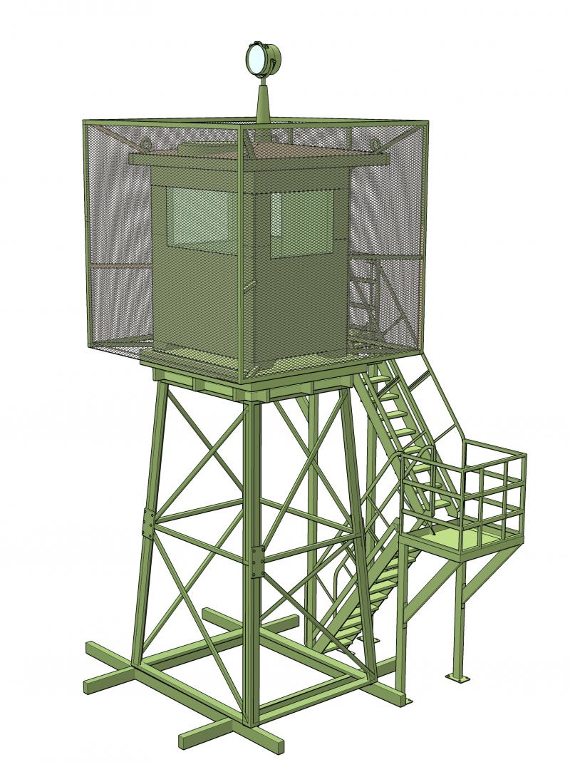 GUARD TOWER WITH ANTI RPG 7 NET (OPTIONAL)