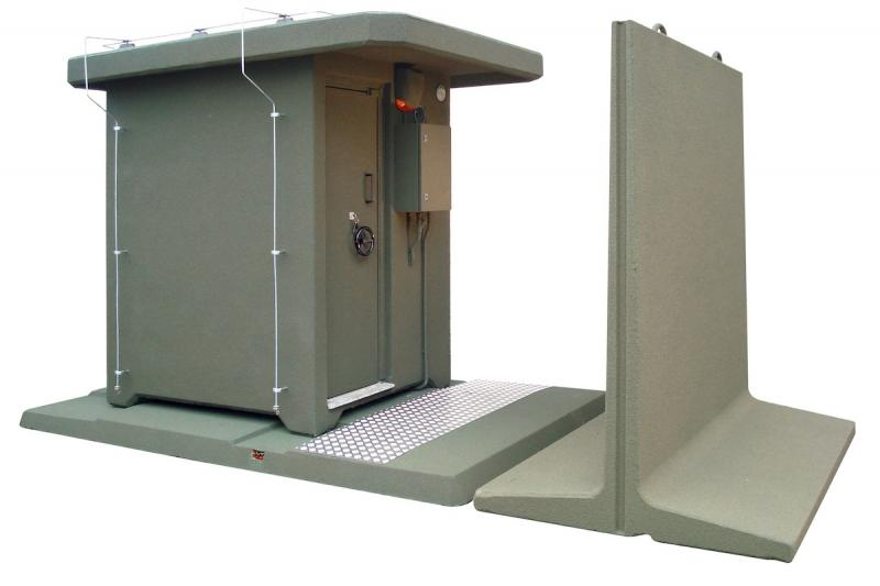 AMMUNITION SHELTER WITH BASEMENT (OPT) AND SPLINTER-PROOF WALL