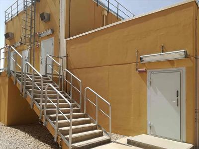 Bulletproof and blast resistant doors in an oil facility