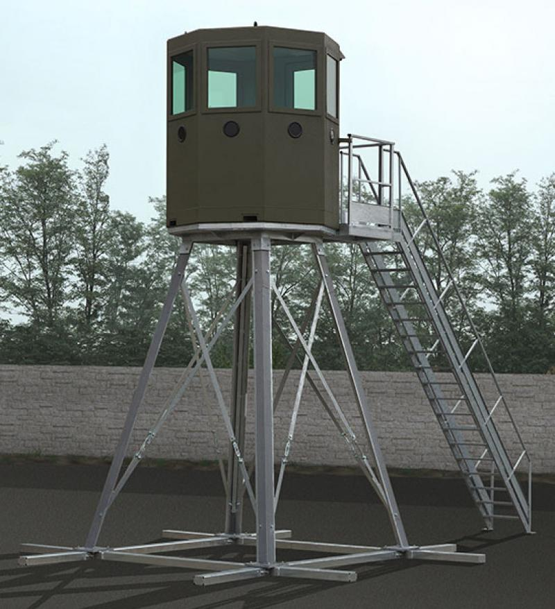 Observation towers for the perimeter protection of a government agency